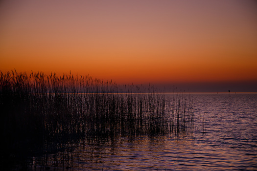 wenn es Nacht wird am See