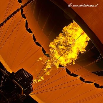 Detail der Nacht der Ballone Gosau