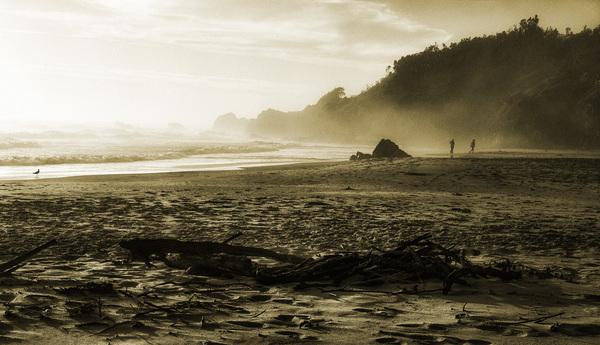 Morgens am Strand ...