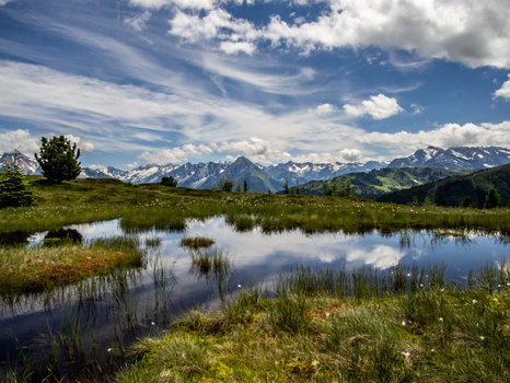 Melchboden Lacke mit Alpenhauptkamm