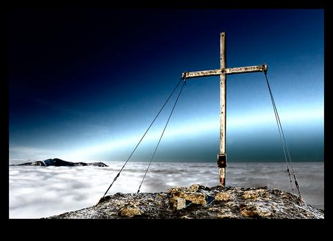 Am Gipfel ...