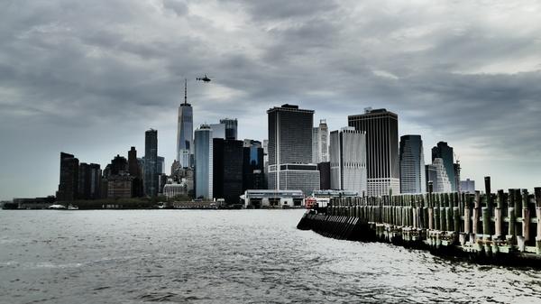 Downtown, gesehen von Governors island