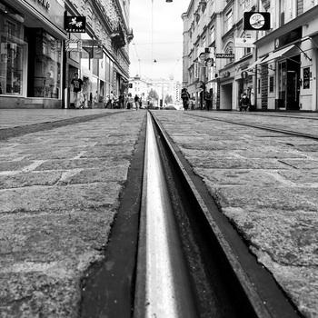 Straßenbahngleise in Linz