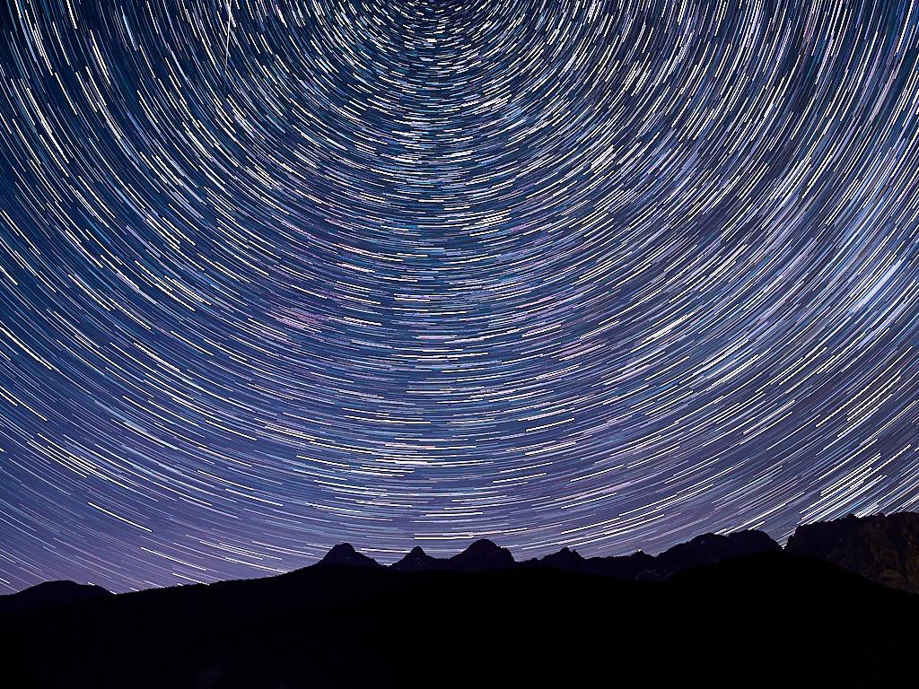 Sterne über dem Dachstein