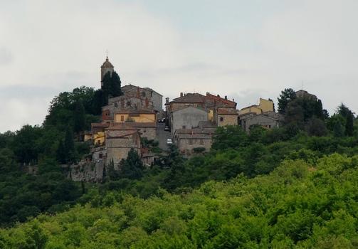 Ein Dorf in der Toskana