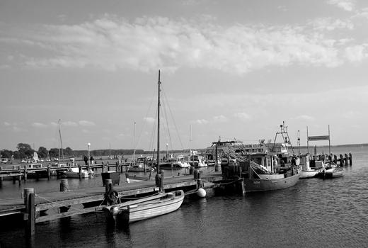 Fischereibereich im Hafen von Rerik  am Salzhaff