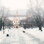 Winterliches Schloss Eggenberg