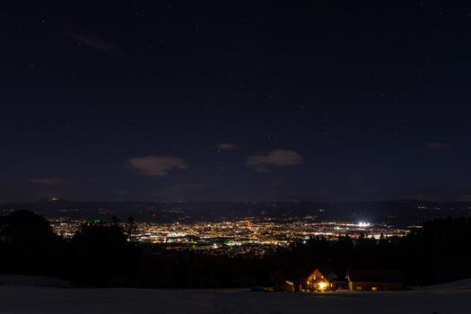 Klagenfurt bei Nacht