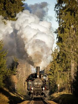 Sonderfahrt der Dampflok von Zwettl nach Schwarzenau