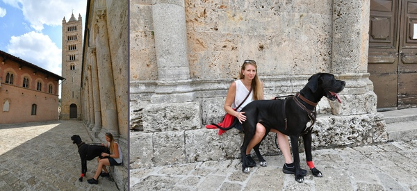 Päuschen im Schatten des Dom von Massa Maritima