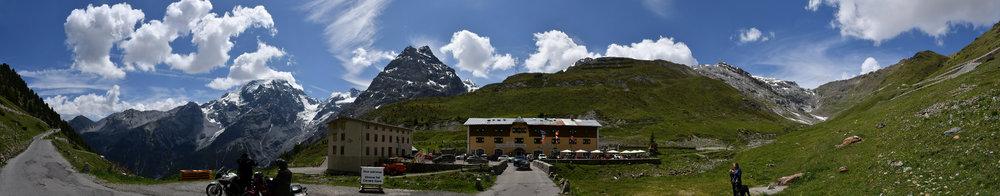 Panorama Stelvio Ostseite (10 Bilder freihand)