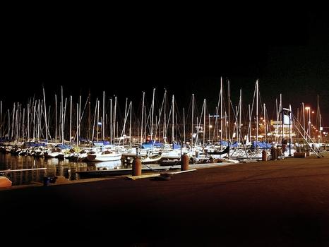 Hafen von Riva Gardasee Italien