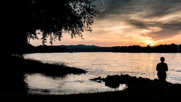 Blick auf die Donau bei Ybbs