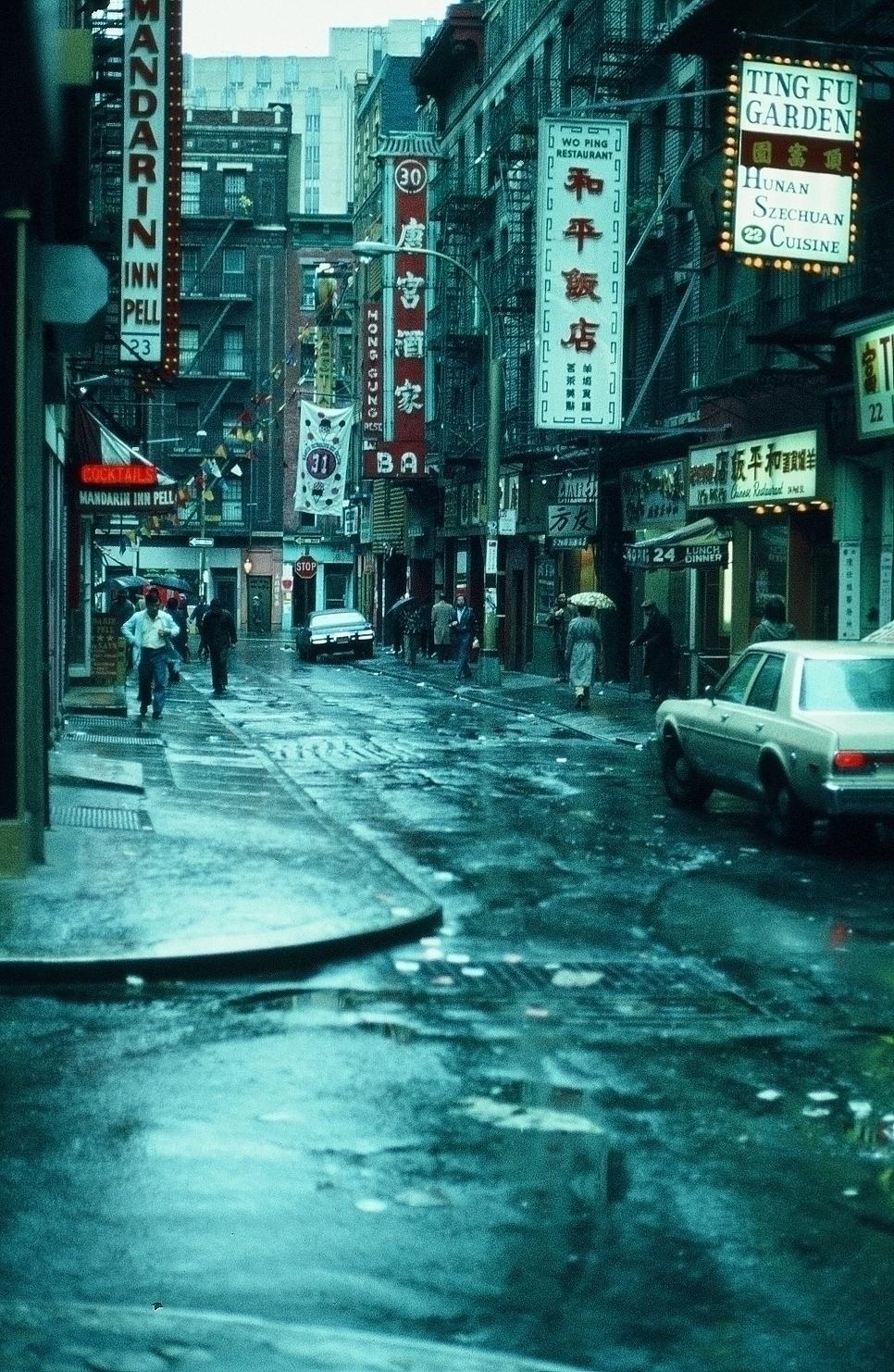 CHINA-TOWN NEW NEW YORK VOR CA. 45 JAHREN