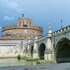 Engelsburg mit Engelsbrücke / Rom