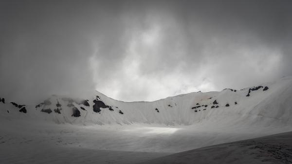 Am Gergeti-Glacier