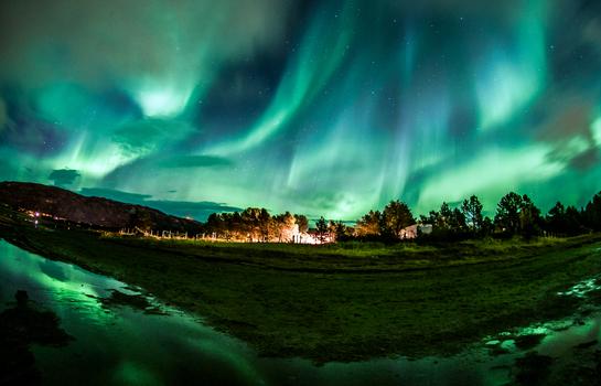 Nordlichter in der Nähe von Alta, Norwegen