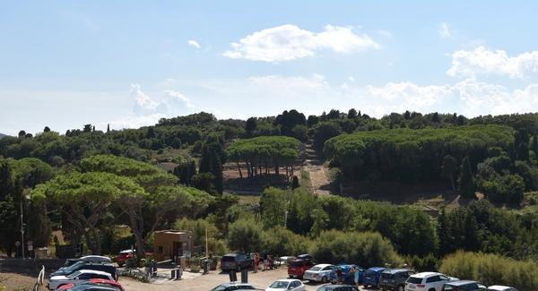 Blick über das römische Populonia