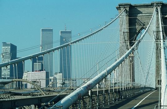 BROOKLYN BRIDGE - NEW YORK - VOR CA. 40 JAHREN = EIN ZEITDOKUMENT
