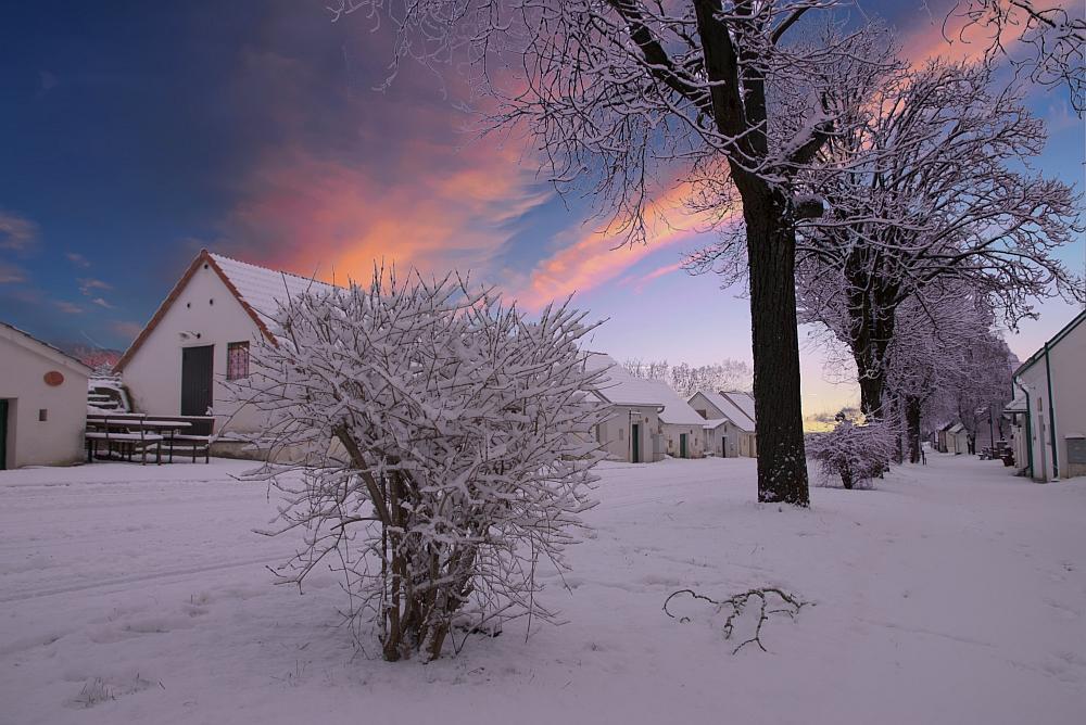 Kellergasse im Winter