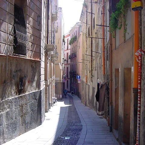 Enge Gasse in Cagliari