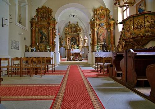 Altarraum der Kirche von Jerzalem (Slowenien)