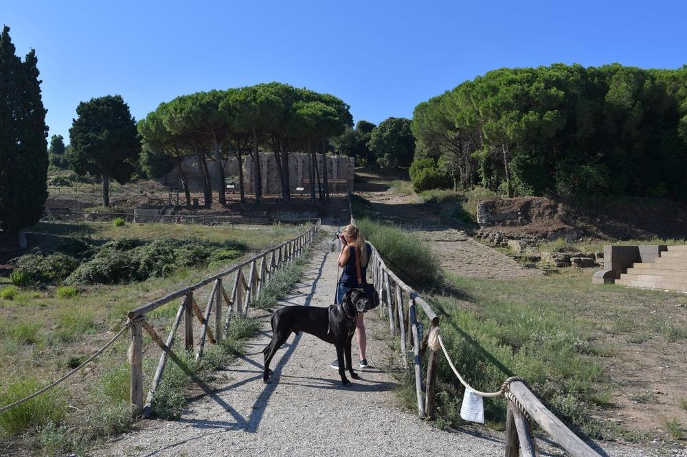 Der römische Teil von Populonia