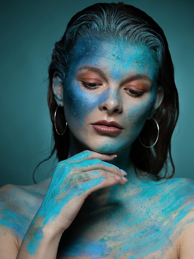 a little more blue