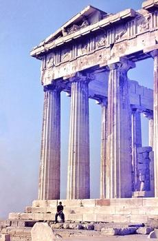 Parthenon-Tempel / Akropolis / Athen   (vor 42 Jahren)