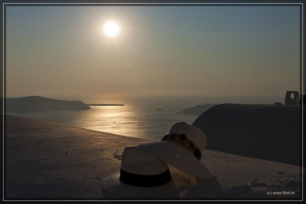 Sunset in Imerovigli - Santorin