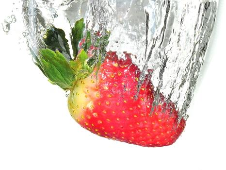 Versenkte Erdbeere
