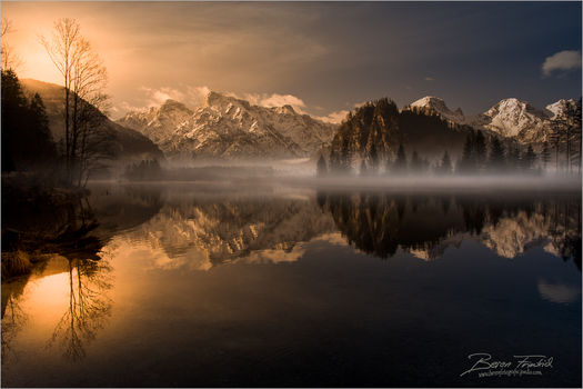Goldener Morgen am Almsee