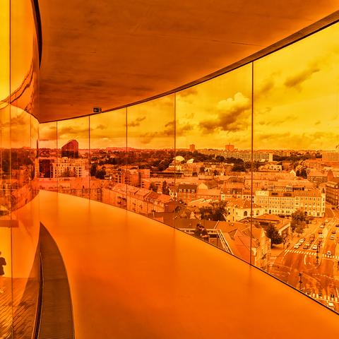 Aarhus , der Regenbogen , Blick von innen