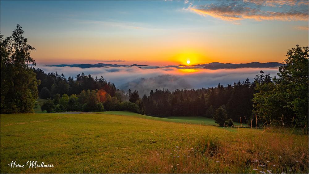 """Sonnenaufgng auf der """"Pammerhöh"""""""
