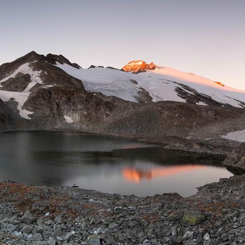 Oberer Schwarzhornsee mit Ankogel