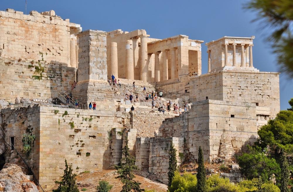 Propyläen u. Niketempel /  Athener Akropolis
