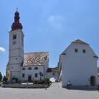Straden, Pfarrkirche und Pfarramt