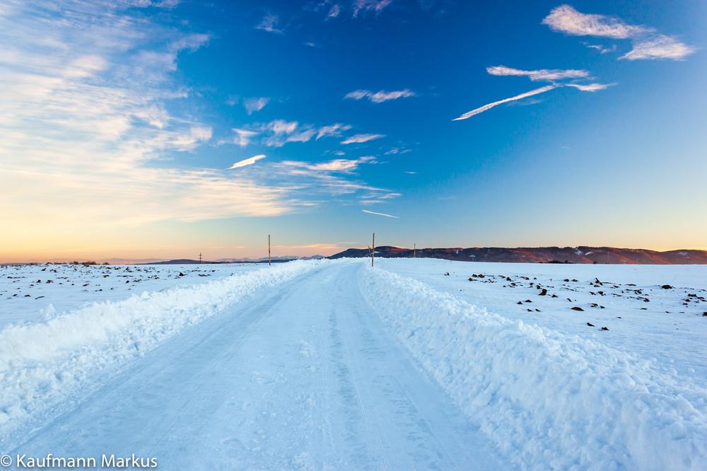 Strasse im Winterwunderland