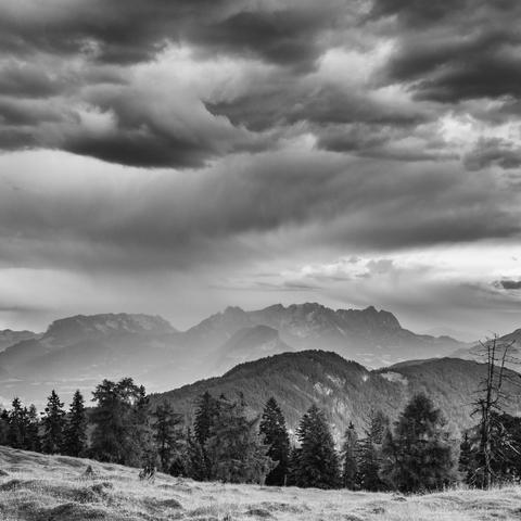 Schlechtwetter über Tirol