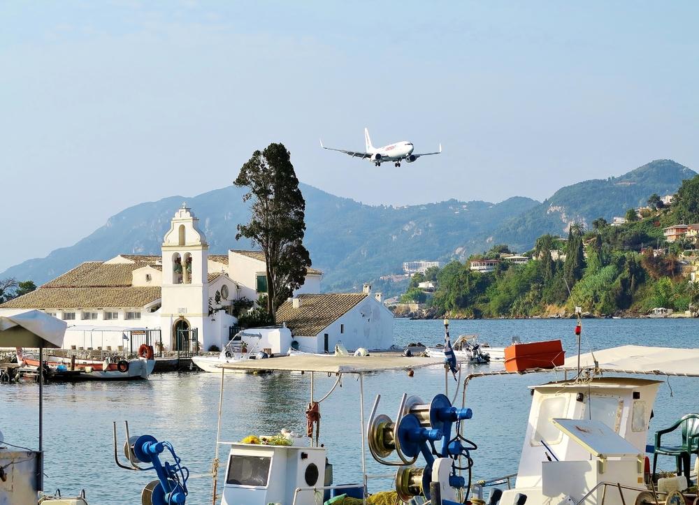 Kerkyra - Landeanflug (Korfu)