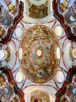 Kirchendecke Stift Altenburg Niederösterreich