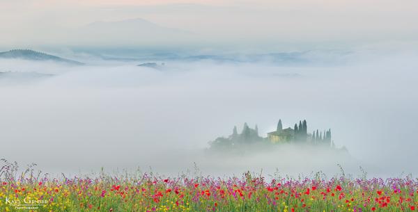 An einem Sommermorgen in der Toskana