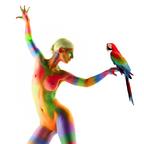 ARAbella  (Aktfotoshooting mit Bodypainting und Papagei)