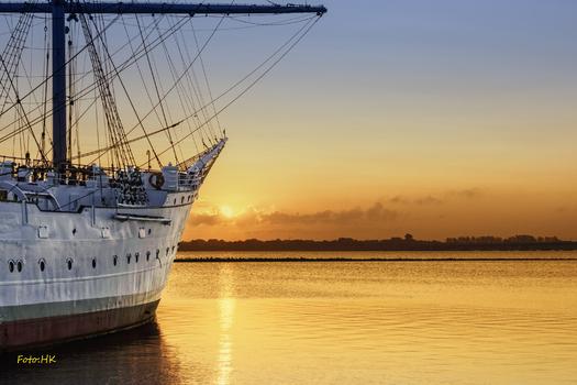 Morgenstimmung im Hafen von Stralsund