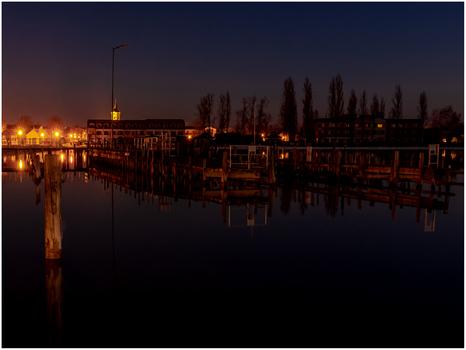 Blick nach Podersdorf vom Leuchtturmsteg