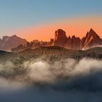 Sonnenaufgang in der Cadingruppe
