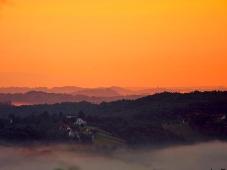 Goldenes Licht im Südburgenland