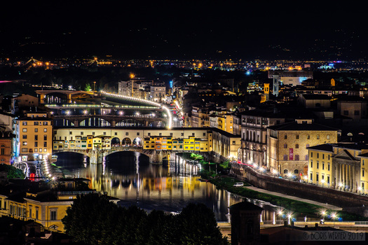 Ponte Vecchio, Florenz bei Nacht
