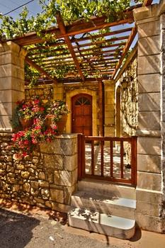 Kreta - Hauseingang in Margerites