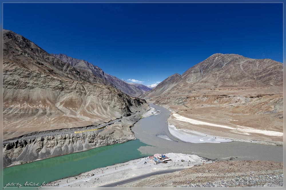 Zusammenfluss Indus und Zanskar